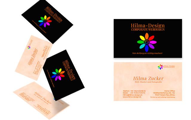 Falende visiten karten Hilma design