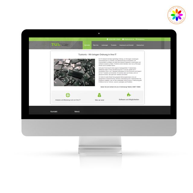 Referenzen tuxtronic Webdesign