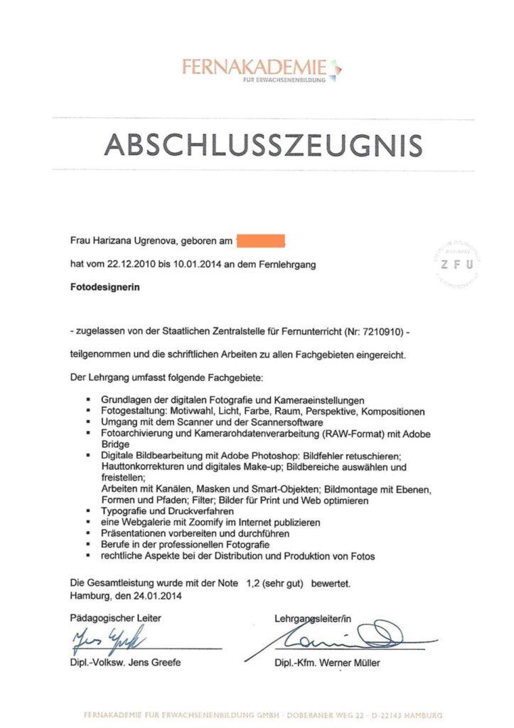 Ugrenova Zeugniss Fotodesignr